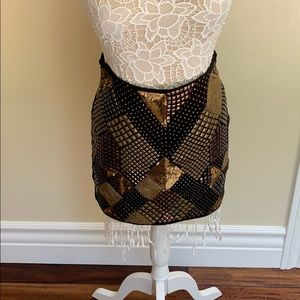 GUESS Mini Skirt with Sequins and more!!